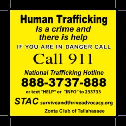 sticky note national human trafficking hotline