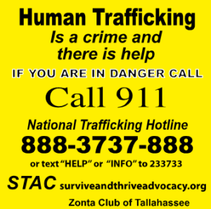 sticky note national human trafficking hotline
